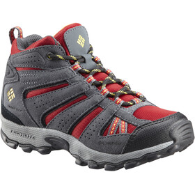 Columbia North Plains Mid Waterproof Shoes Youth Rocket/Golden Nugget